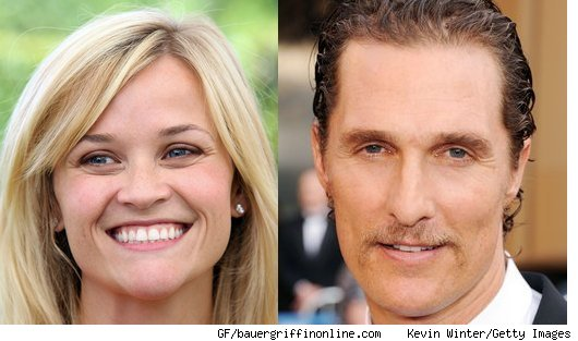 witherspoon mcconaughey Matthew McConaughey, Reese Witherspoon Play With Mud
