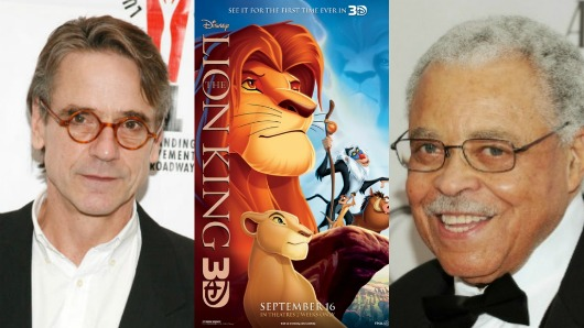 8picnik collage Jeremy Irons and James Earl Jones on The Lion King 3D and Keeping It Together When Mufasa Dies