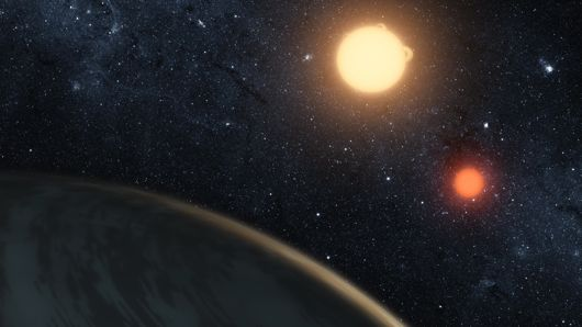 Artist's rendering of planet Kepler 16b, a.k.a. Tatooine