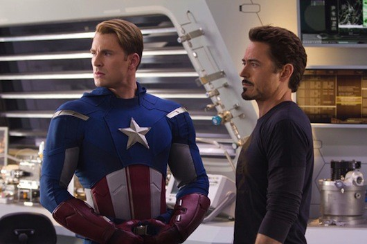 avengersnewphotoshdsmall2 Chris Evans Offers the Many Pensive Faces of Captain America in New Avengers Pics