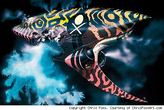fossdunepiratespaceship 530 Legendary Illustrator Chris Foss Recalls His Blowout With Stanley Kubrick and Antics on Alien Set