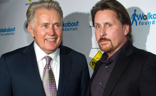 martin sheen emilio estevez 530 Presidents Clinton and Bartlet Watch The Way Together