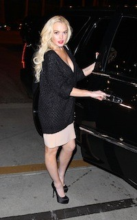 131345817 Lindsay Lohan May or May Not Have Crashed Leonardo DiCaprios J. Edgar Party