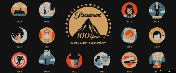 Paramount pictures 100th anniversary poster from breakfast at