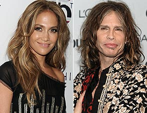 Jennifer Lopez and Steven Tyler