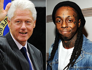 Bill Clinton and Lil Wayne