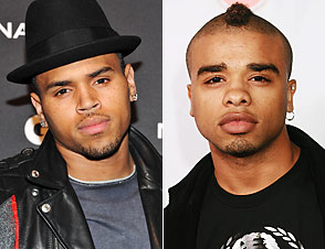 Chris Brown and Raz-B