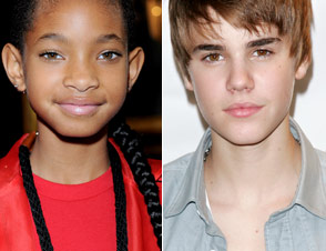 Willow Smith and Justin Bieber
