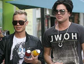 Adam Lambert and boyfriend Sauli Koskinen