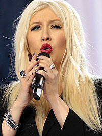Christina Aguilera Super Bowl National Anthem