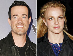 Carson Daly and Britney Spears