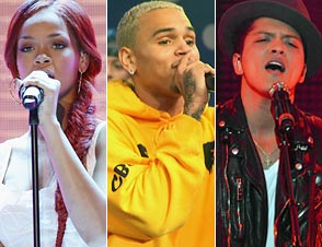 Rihanna, Chris Brown, Bruno Mars