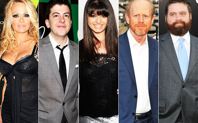 Pamela Anderson, Christopher Mitz-Plasse, Rebecca Black, Ron Howard, Zach Galifinakis