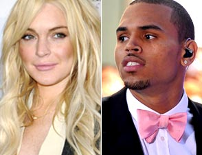 Lindsay Lohan, Chris Brown