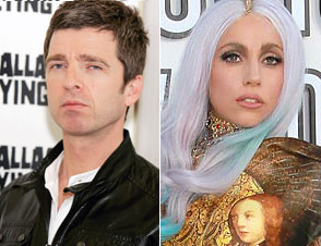 Noel Gallagher and Lady Gaga