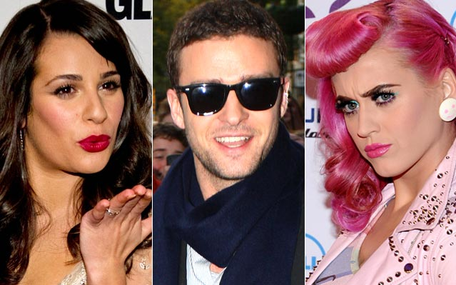 Lea Michele, Justin Timberlake, Katy Perry