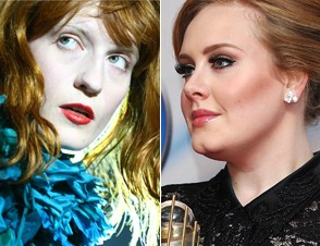 Florence Welch and Adele