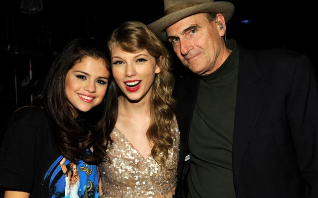 Selena Gomez Taylor Swift James Taylor