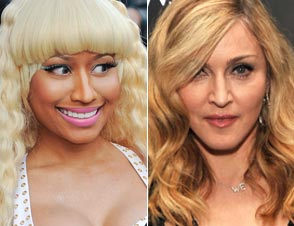 Nicki Minaj, Madonna kiss