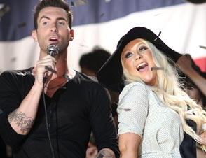 Adam Levine Christina Aguilera weight critics