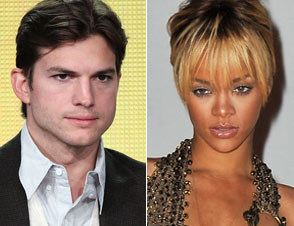 Ashton Kutcher Rihanna summer UK