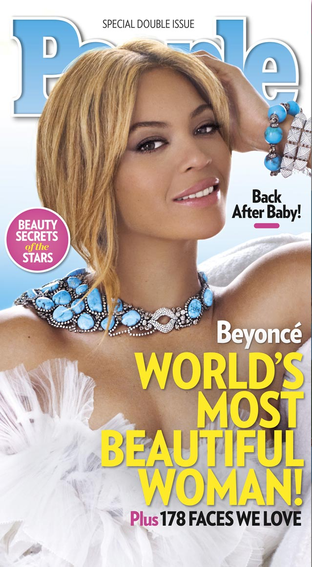 Beyonce People's World's Most Beautiful Woman 2012