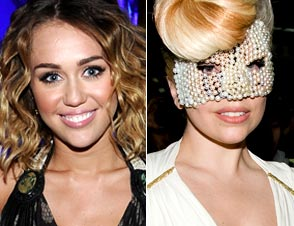 Miley Cyrus Lady Gaga