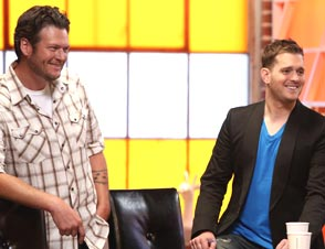 Michael Buble The Voice blake shelton