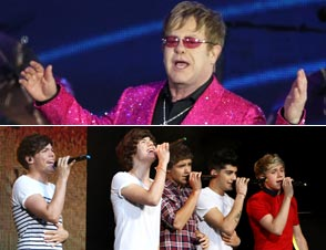 Elton John One Direction