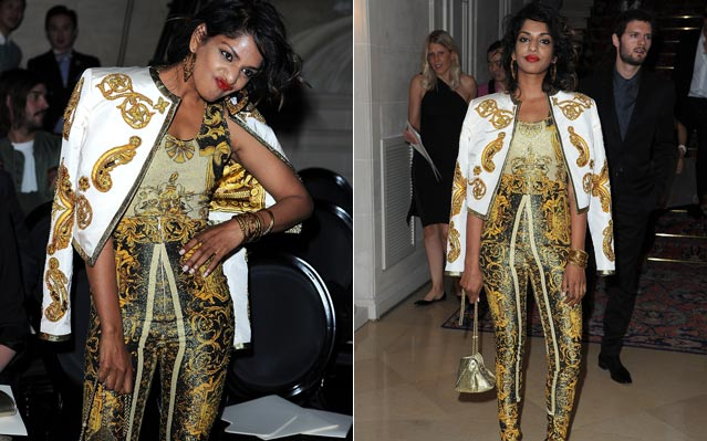 M.I.A. Paris Fashion Week Versace