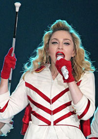 Madonna performs in Russia