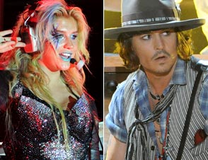 Kesha, Johnny Depp: Odd Couple Hits the Stage at Petty Fest 2012