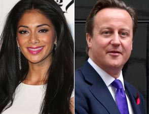 Nicole Scherzinger UK Prime Minister David Cameron
