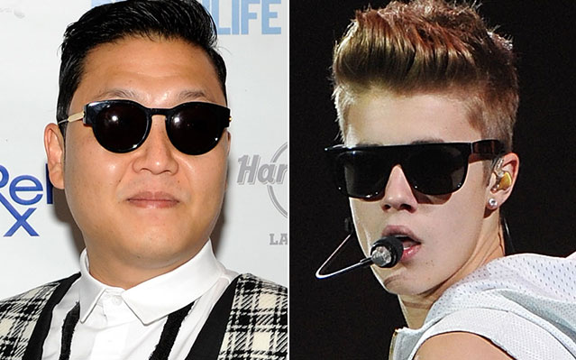 images psy justin bieber share manager pop stars planning collaborate