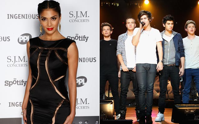 Nicole Scherzinger one direction