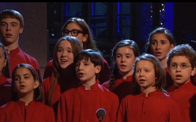 SNL children's choir sings