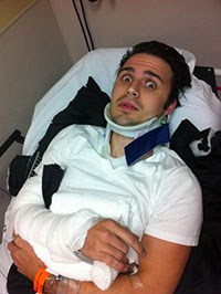 Kris Allen car accident, having a baby