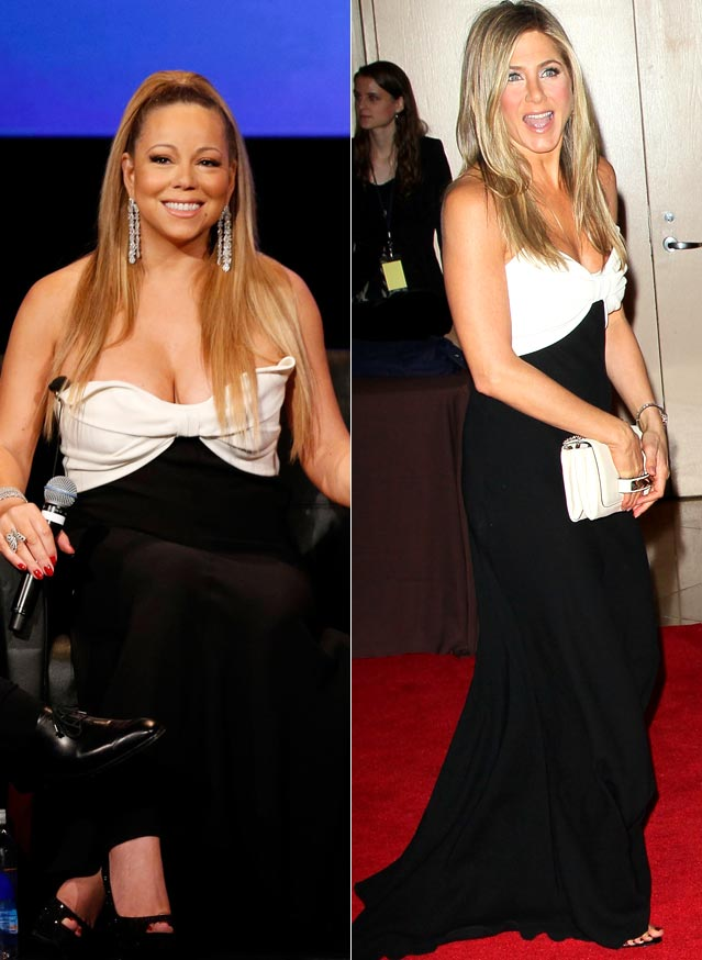 who wore it better Mariah Carey Jennifer Aniston