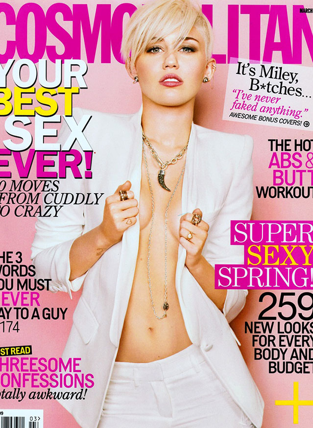 miley cyrus braless new cosmo cover
