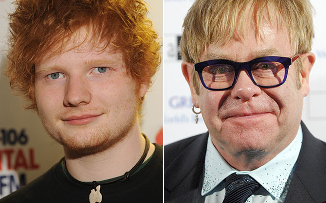 ed sheeran elton john grammy nightmares