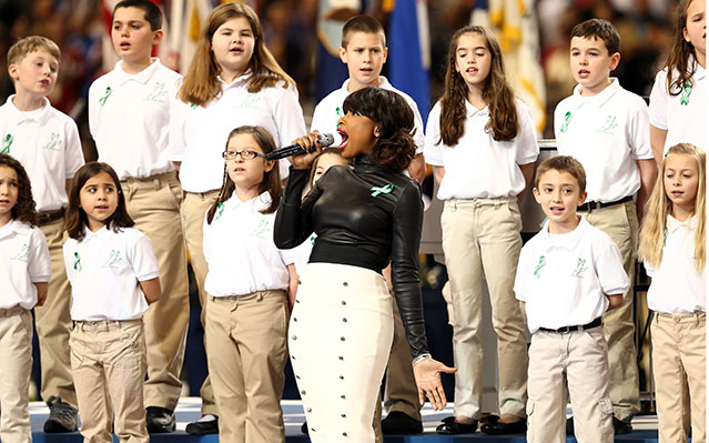jennifer hudson sandy hook ct choir super bowl