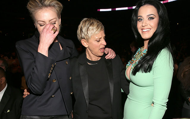 Katy Perry, Ellen DeGeneres Win Best Photo Award From 2013 Grammys