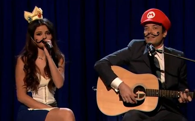 selena gomez jimmy fallon mario kart love song