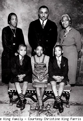 martin luther king jr early years as a child