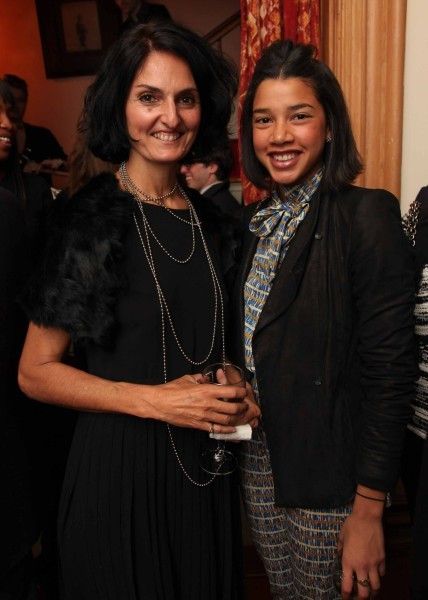 Hannah Bronfman with socialite Claudja Bicalho at a dinner hosted by Jacqueline Schnabel.