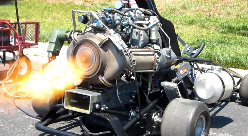 Insane jet engine powered go kart goes up for sale for Motor go kart for sale