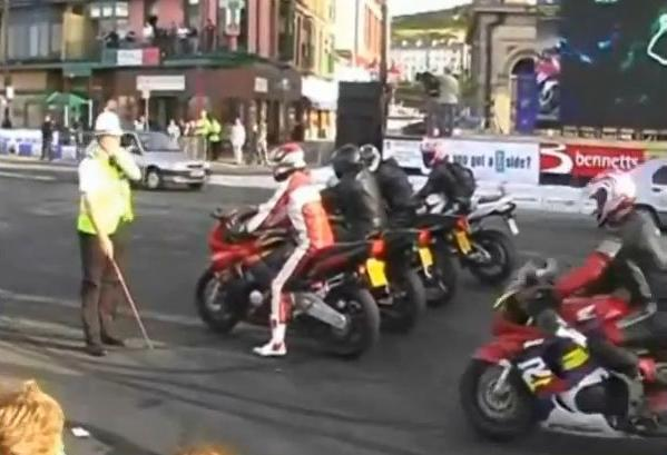 Watch Police Encourage Illegal Street Racing On Isle Of Man