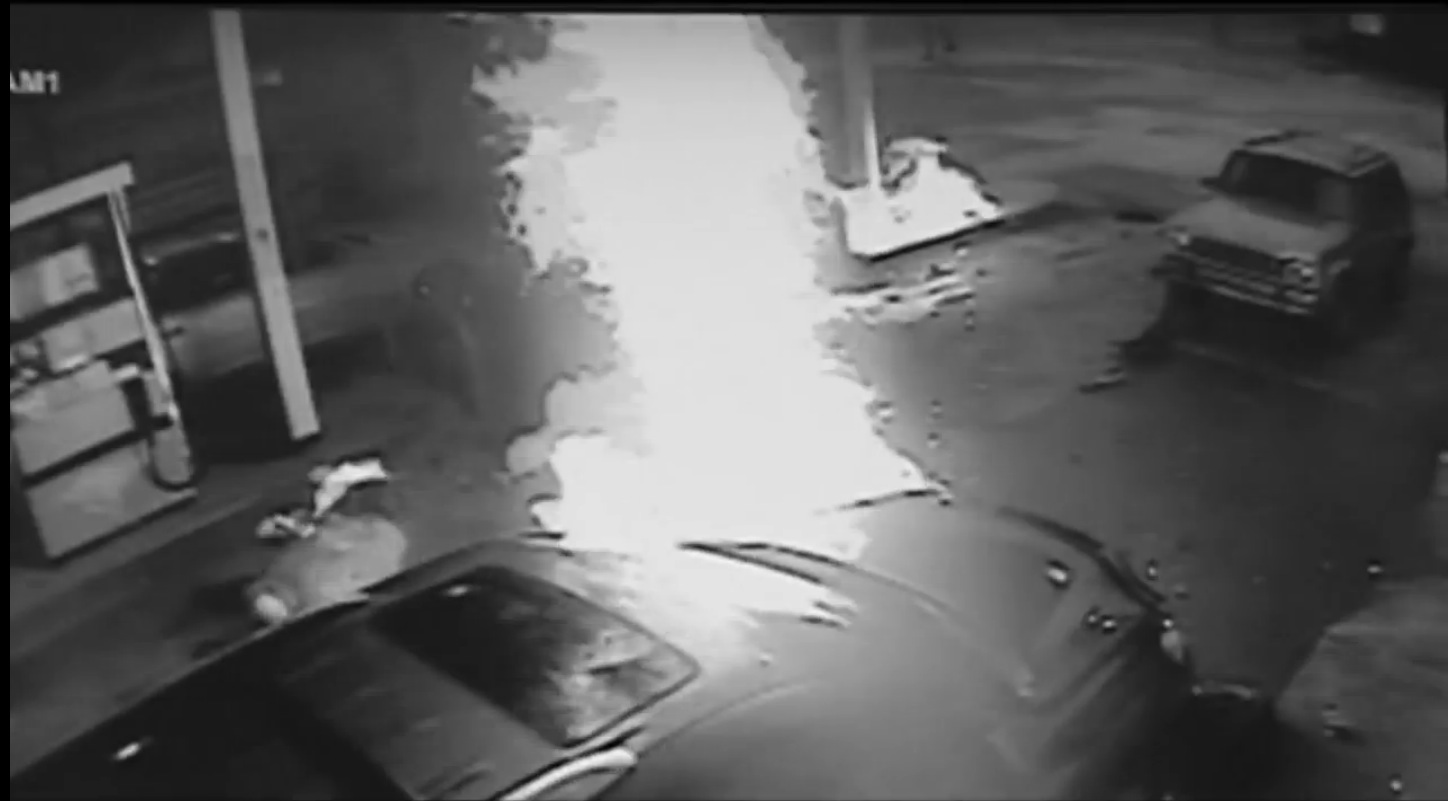 Man Crashes Car Catches Fire