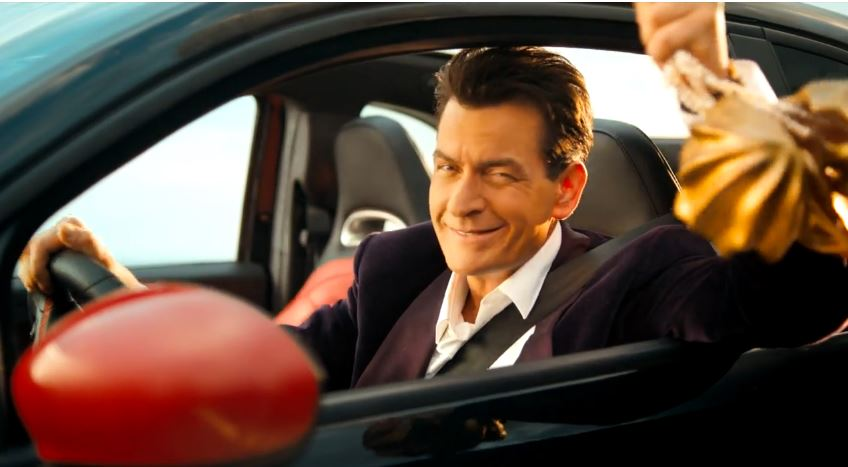 Sexy Girls And Fiat 500 Abarth Get Topless With Charlie Sheen
