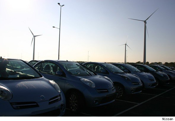 cars and windfarms